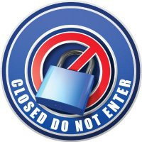 3D Wall Decal - Closed Do Not Enter - Blue