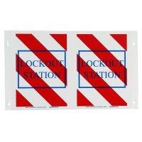 Brady Lockout Station Sign - V-shaped High Visability - Part Number - 66328 - 1/Each