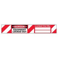 Danger Equipment Locked-Out Padlock Label