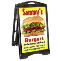 A-Plus Rolling Sandwich Board Sign Panels & Frame