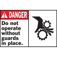 Machine Warning Labels - Danger Do Not Operate