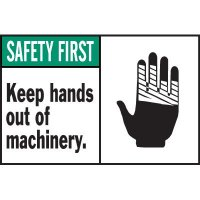 Machine Warning Labels - Safety First Keep Hands Out