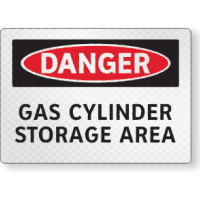 Gas Cylinder Storage Area Sign - FireFly® Reflective & Glow-in-the-Dark