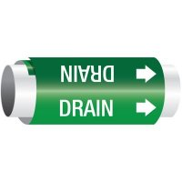 Setmark® Snap-Around Pipe Markers - Drain