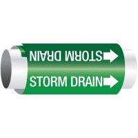 Setmark® Snap-Around Pipe Markers - Storm Drain