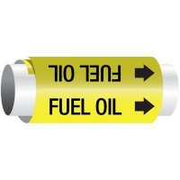 Setmark® Snap-Around Pipe Markers - Fuel Oil