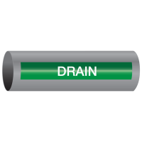 Xtreme-Code™ Self-Adhesive High Temperature Pipe Markers - Drain