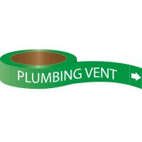 Roll Form Self-Adhesive Pipe Markers - Plumbing Vent