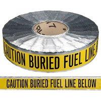 Underground Detectable Warning Tape - Caution Buried Fuel Line Below