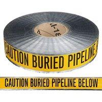 Underground Detectable Warning Tape - Caution Buried Pipeline Below