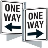 Flanged Traffic Signs - One Way (Left Arrow)