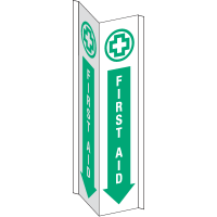 3-Way View First Aid Signs