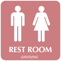 Optima Symbol of Access Unisex Restroom Signs