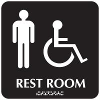 Optima ADA Men Handicapped Access Restroom Signs