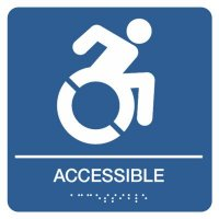 Wheelchair Accessible Sign with Graphic & Braille
