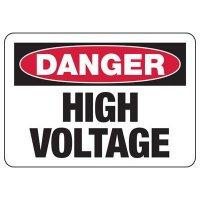 Danger High Voltage Signs & Labels