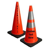 Custom Stenciled Traffic Cones