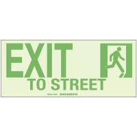 Exit To Street - Hi-Intensity Photoluminescent Signs (10Pk)