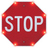 Indoor BlinkerStop® Flashing LED STOP Sign