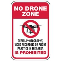 No Drone Zone - Photo and Video Prohibited