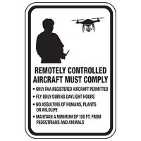 Drone Operation Must Comply With Rules Sign