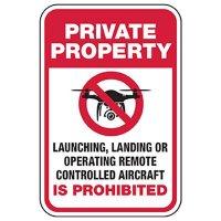 Private Property: Remote Control Drone Prohibited