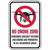 No Drone Zone - Prohibited in Wilderness