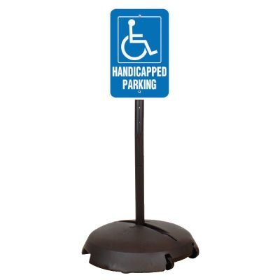 EZ-Roll Sign Stanchion Systems - Handicapped Parking Sign