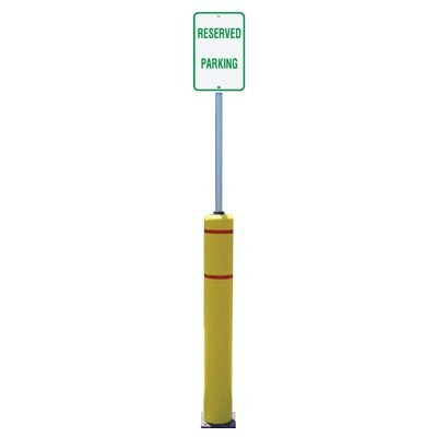Flexible Bollard Sign Post Systems - Reserved Parking Sign