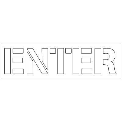 Plastic Word Stencils - Enter