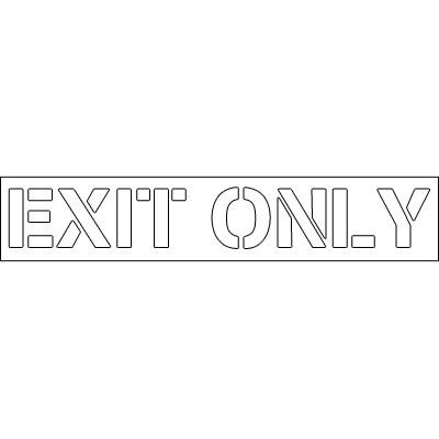 Plastic Word Stencils - Exit Only