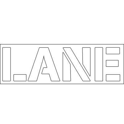 Plastic Word Stencils - Lane