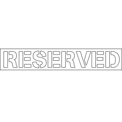 Plastic Word Stencils - Reserved
