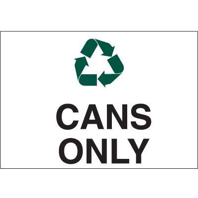 Recycling Labels - Cans Only