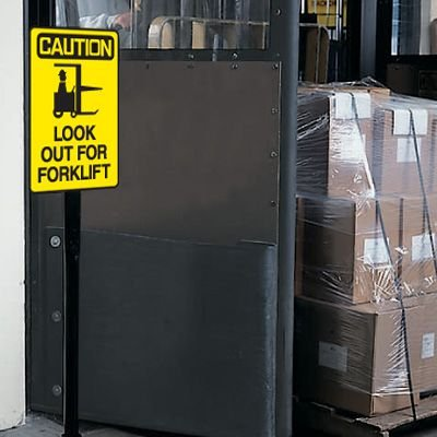 Caution Look Out For Forklift Warehouse Traffic Signs