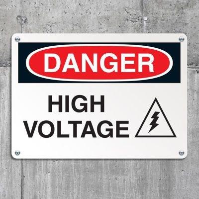 Equipment Hazard Mini Safety Signs - Danger High Voltage