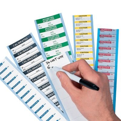 Write On Labels - Tested Date Initials