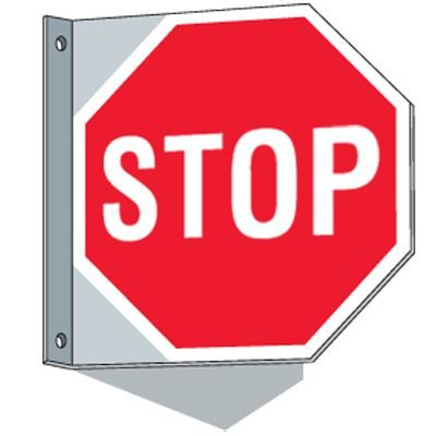 Flanged Traffic Signs - Stop