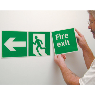 Fire Exit Glow-In-The-Dark Polished Sign