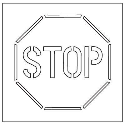 Plastic Graphic Stencils - Stop