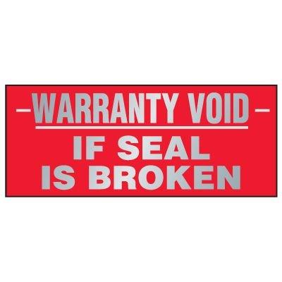 Tamper Evident Void Labels - Warranty Void