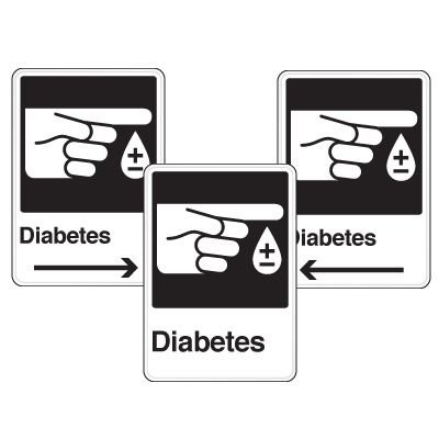 Health Care Facility Wayfinding Signs - Diabetes