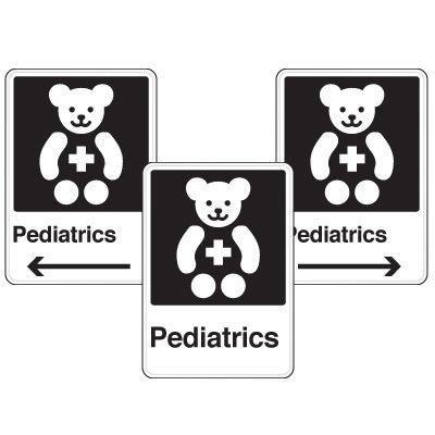 Health Care Facility Wayfinding Signs - Pediatrics