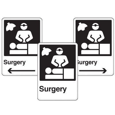 Health Care Facility Wayfinding Signs - Surgery