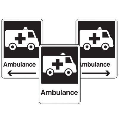 Health Care Facility Wayfinding Signs - Ambulance
