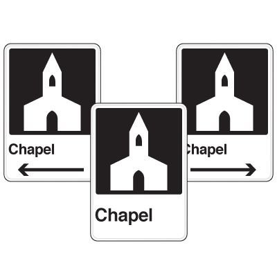 Health Care Facility Wayfinding Signs - Chapel