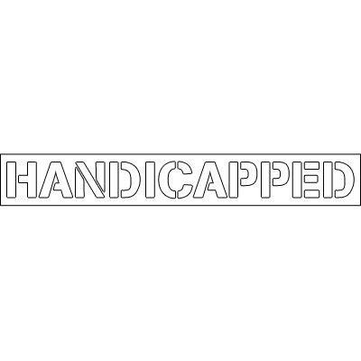 Plastic Word Stencils - Handicapped
