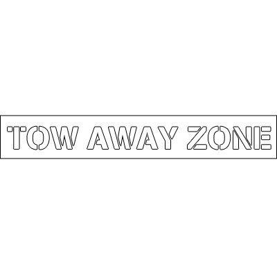 Plastic Word Stencils - Tow Away Zone