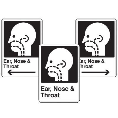 Health Care Facility Wayfinding Signs - Ear Nose & Throat