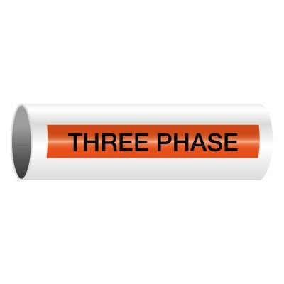 Three Phase - Self-Adhesive Electrical Markers